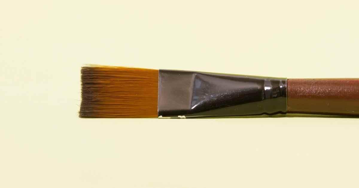 a single watercolor paintbrush